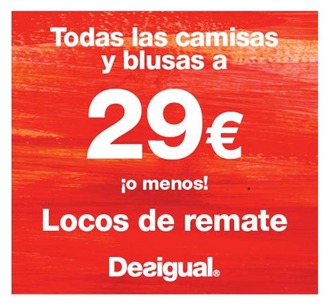 promoción DESIGUAL camisas y blusas a 29€