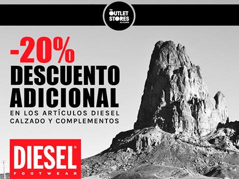 promocion SUPERJUEVES tienda DIESEL outlet store alicante