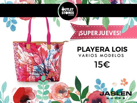 promocion SUPERJUEVES tienda JASLEN outlet store alicante