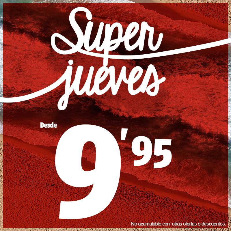 promocion SUPERJUEVES tienda XTI outlet store alicante