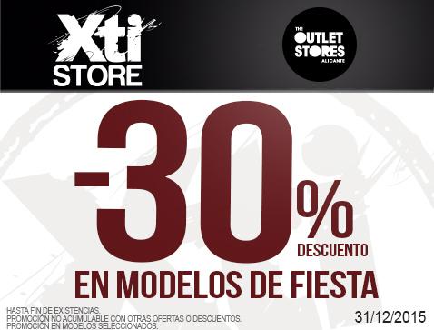 38824d6b68a Xti Store | 30% de descuento - Centro Comercial The Outlet Stores ...