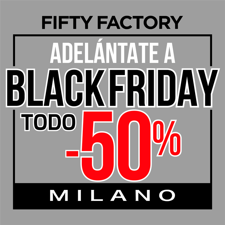 Fifty factory promoci n centro comercial the outlet for Black friday 2017 milano
